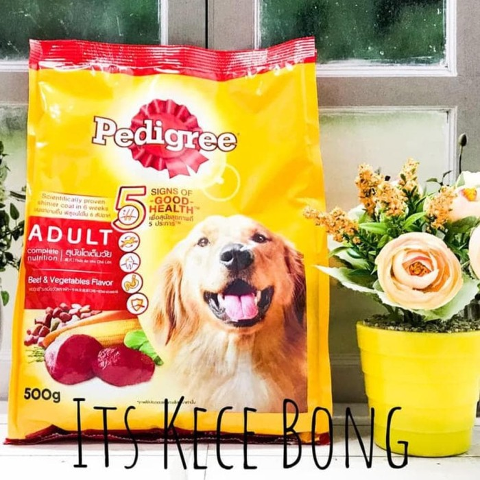 Pedigree Adult Beef & Vegetables 500Gr Makanan Anjing