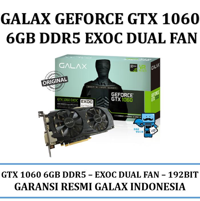 Jual VGA GALAX nVidia Geforce GTX 1060 EXOC (EXTREME OVERCLOCK) 6GB DDR5 -  Das Livia Computer | Tokopedia