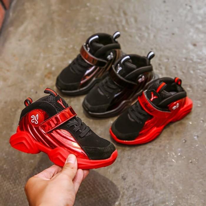 0d5c1c204af Sepatu basket anak / nike foamposite kids - 27 hitam harga ...