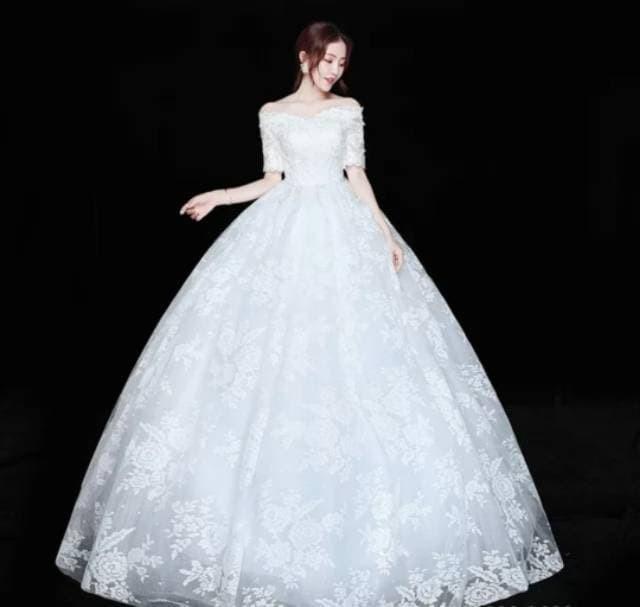 Jual Gaun Pengantin Wedding Dress Wanita Korea Style 2019 Murah Baju