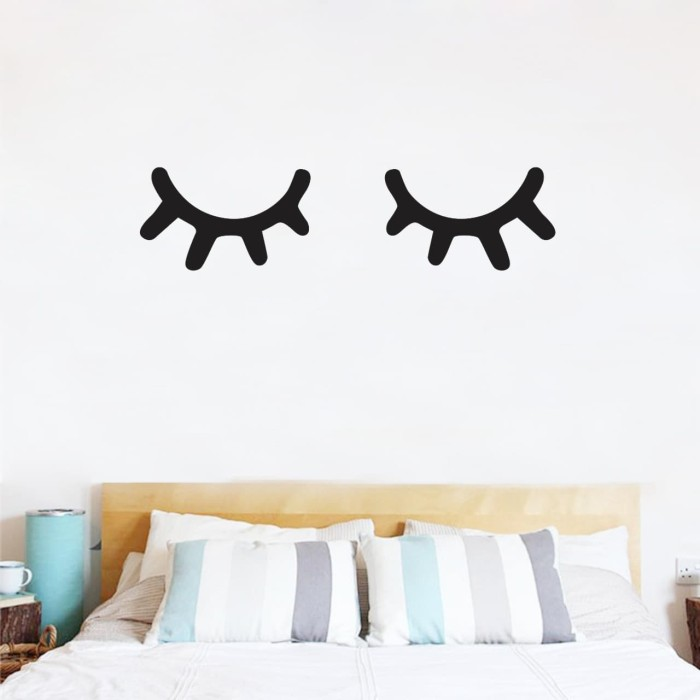 jual wallsticker sleepy eyes vers. 3 - bold - wallsticker pusat