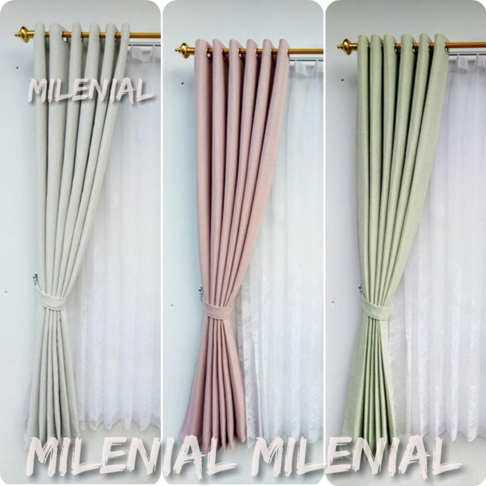 Jual #gorden Jendela Rumah Minimalis Dekorasi Furnitur Interior Rumah -  Hijau - Kab. Bandung - Milen_nial | Tokopedia