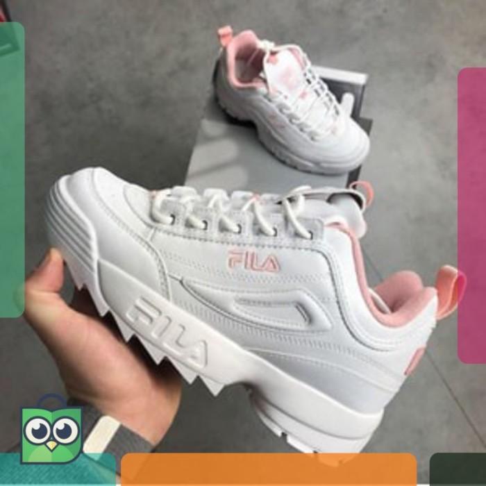 Fila Disruptor II White Pink Premium