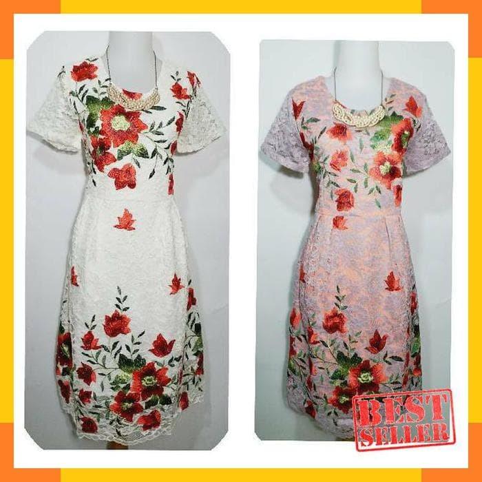 ASYERA - Party dress brokat bordir xl. Toko dalam status moderasi e5775559c2