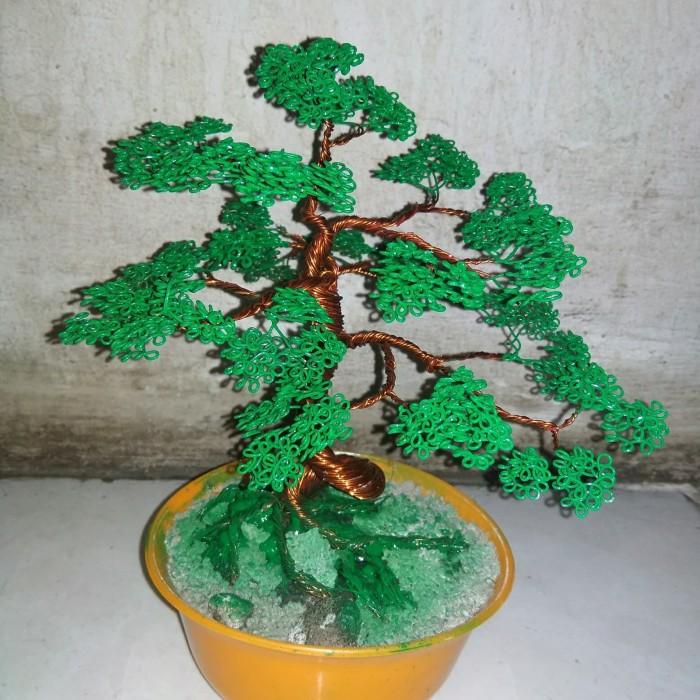 Jual Bonsai Mini Kawat Bonsai Pohon Bonsai Bunga Hias Kota Tangerang Flower Handmade Tokopedia