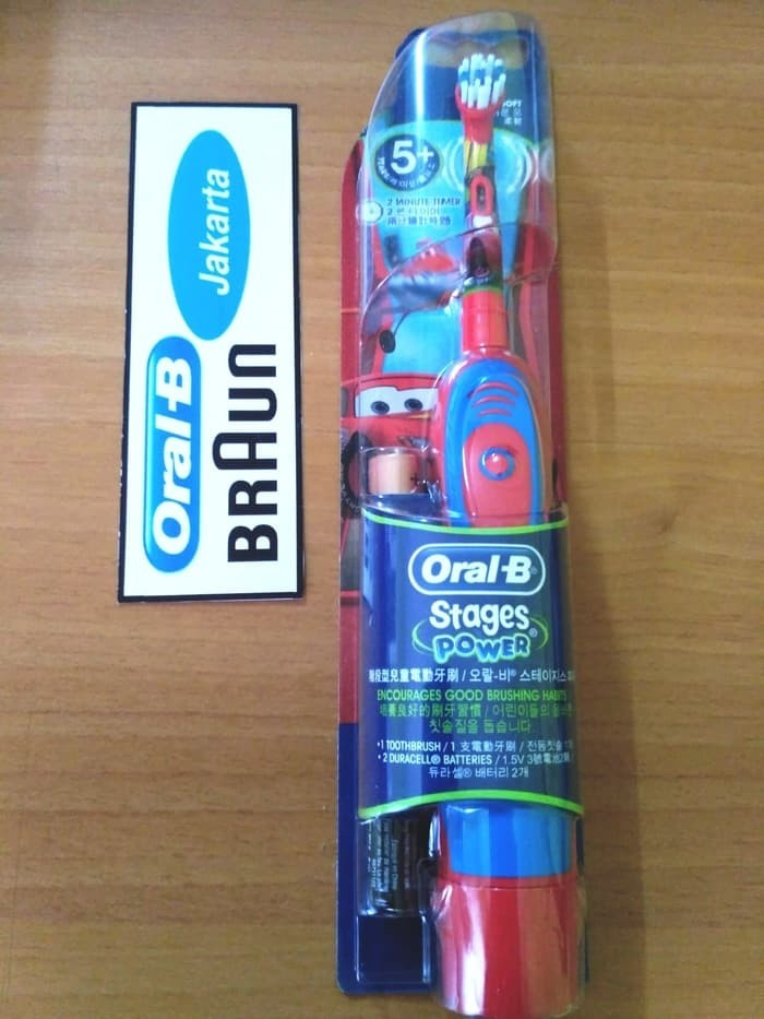 Jual Sikat Gigi Elektrik Anak Oral B Stages Power Kids Cars 5 ... 6c53d2e2de