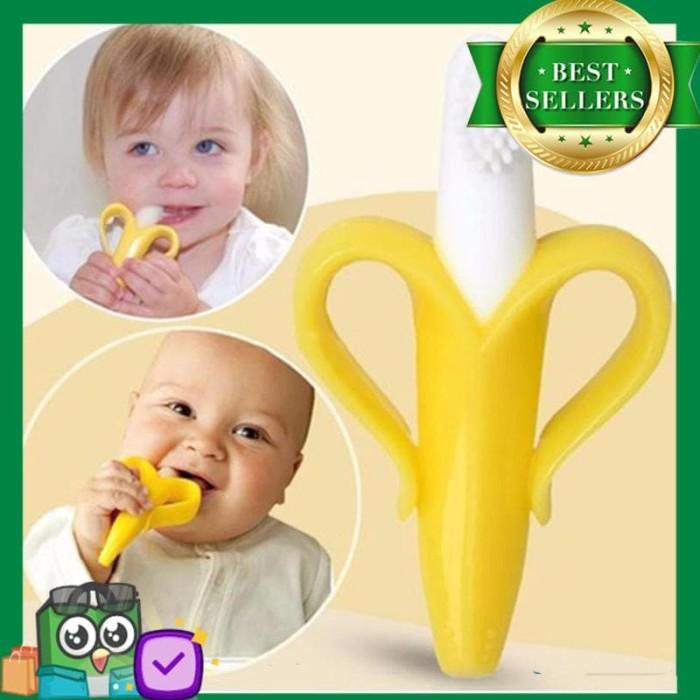 Jual TERMURAH teether baby toothbrush banana gigitan bayi sikat gigi ... 41448cd2fb
