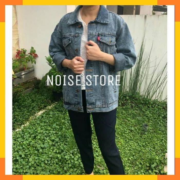 Jaket Jeans Sanwash Grey Oversize Premium Quality