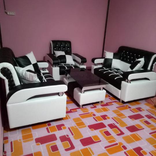 Jual Sofa Hitam Putih Furniture Minimalis Amt Tokopedia