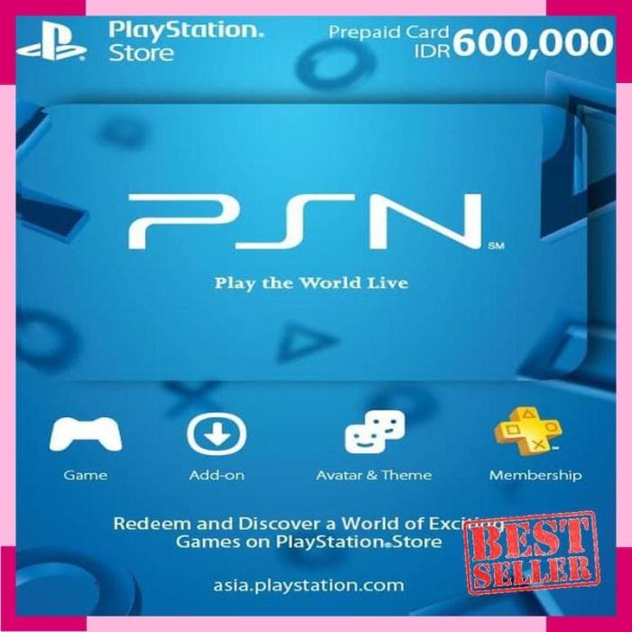 Jual Keren - CD PlayStation - Voucher PSN Digital IDR 600 000 - Kab  Malang  - alvanug | Tokopedia