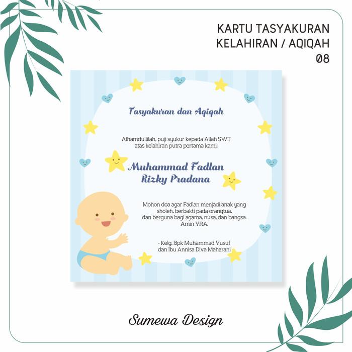 Template Desain Ucapan Kelahiran Bayi | kumpulan ilmu dan ...