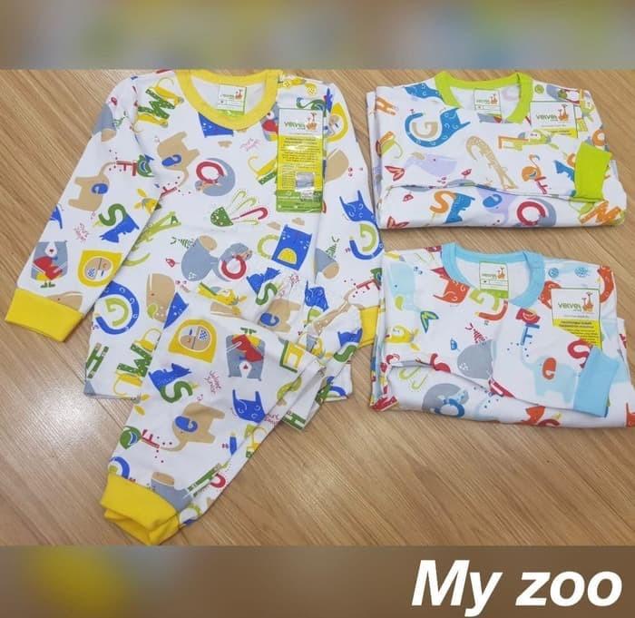 Velvet Junior S M L Setelan Panjang Baju Tidur Piyama Bayi