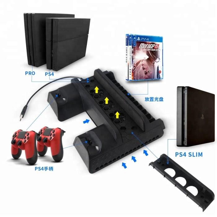 Foto Produk Dobe Multifunctional Cooling Stand For PS4 Pro / PS4 Slim / PS4 Fat dari Suyanto//Liberty Game