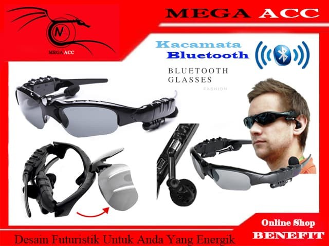 Jual MP3 Sunglasses With Bluetooth (Kacamata MP3 + Bluetooth) - Mega ... 176dce133e