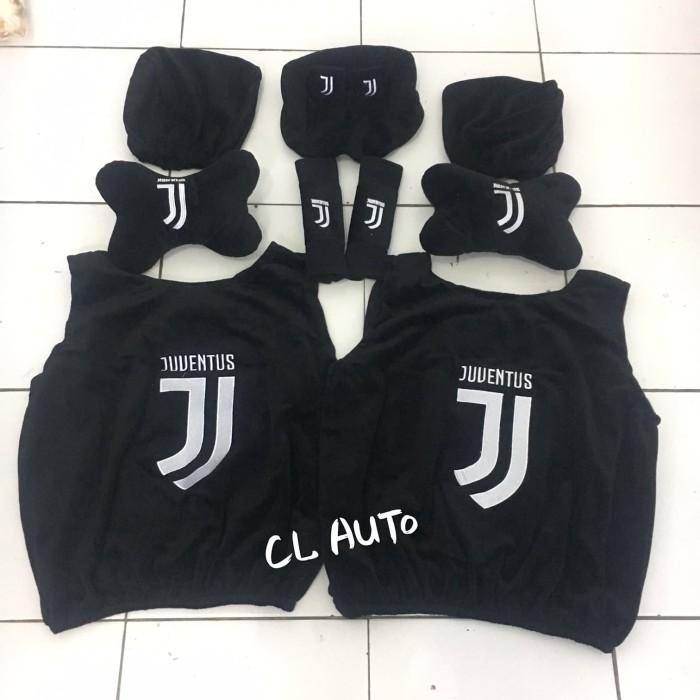 Harga Bantal Set Mobil 5 In 1 Juventus Hitam Sarung Jok 5in1 Murah Unik Harga Rp 125.000