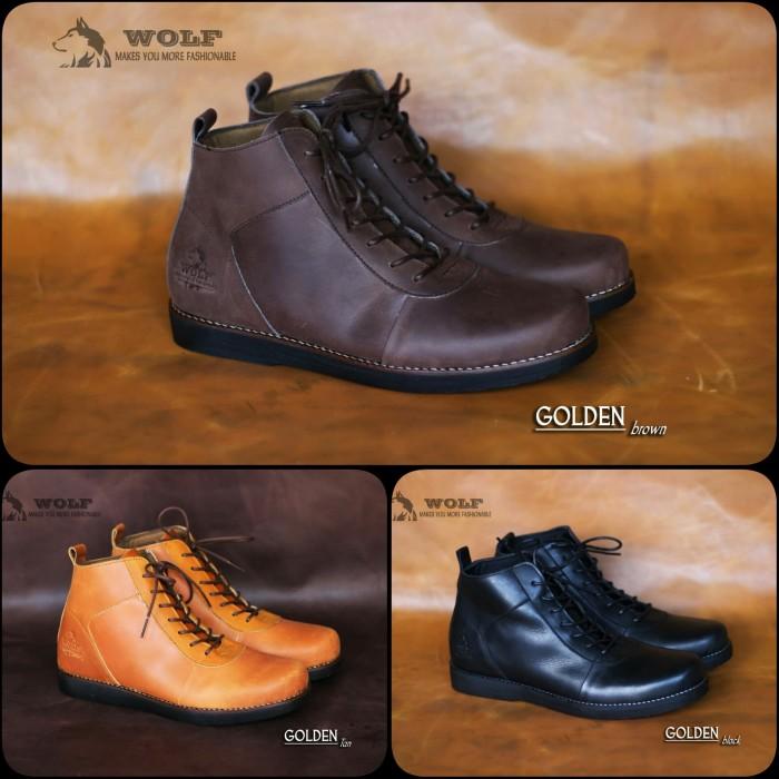 Jual Sepatu Boots Kulit Pria ORIGINAL Wolf Golden - hnz store ... eef6804f85