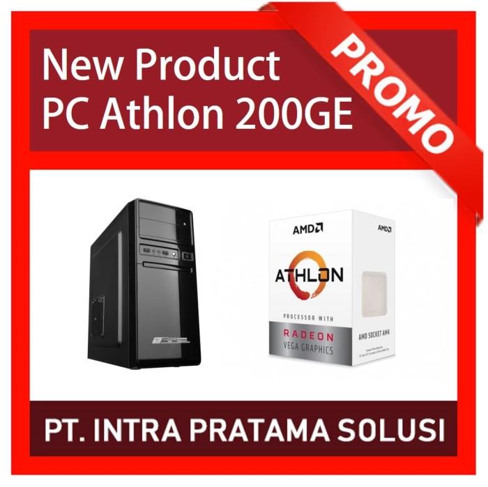 harga Pc amd athlon 200ge lengkap + monitor 19  (processor terbaru 2018) Tokopedia.com