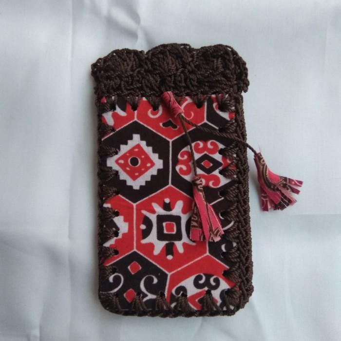 Foto Produk Tas Selempang Rajut Batik Wanita Mini HP Nokia Samsung Souvenir Jogja dari Toko Candi Prambanan