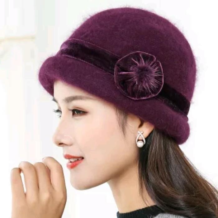 Harga Jual Topi Wool Rabbit   Topi Winter Wanita Import Di Bekasi ... 67355e4355