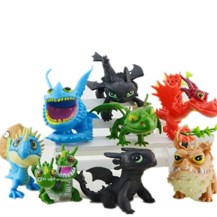 Jual 8pcs How To Train Your Dragon 2 Toys Action Figures Night Fury Dki Jakarta Gunawan Online Shop Tokopedia