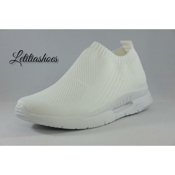 harga Sepatu slip on wanita sepatu sneakers wedges 8206 white Tokopedia.com