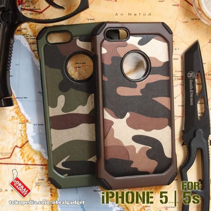 Hardcase Army Comouflage Armor Keren Cover Case Casing HP iPhone 5 5s