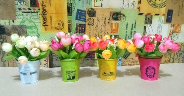 Jual Bunga mawar plastik bunga hias bunga dekorasi shabby chic ... bffc88be13