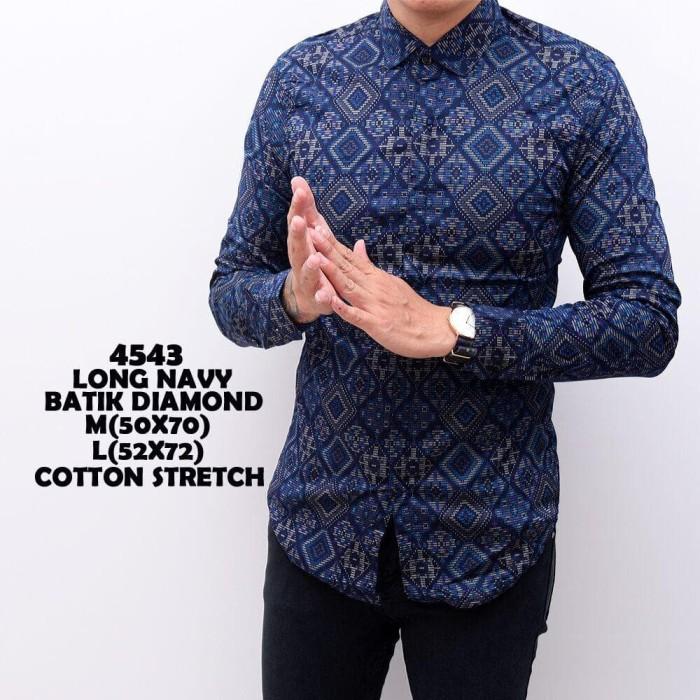 Jual Best kemeja batik pria lengan panjang baju batik modern slimfit ... 1e95fd7897