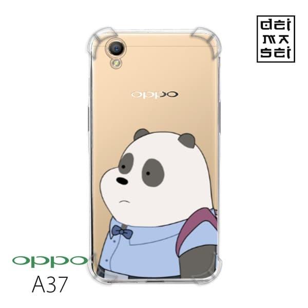 We Bare Bears Panda 05 Casing Oppo A37 Anti Crack Anticrack Case HP