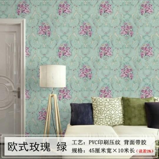 Jual Wallpaper Dinding Shabby Tosca 45cm X 10m Kota Tangerang A5 Wallpaper Tokopedia