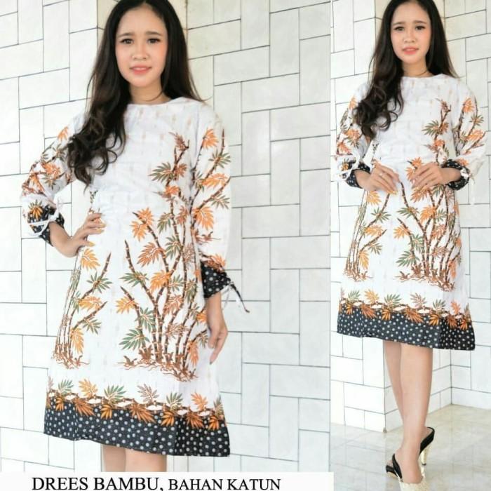 harga Blus tunic batik bambu / tunik bati / dress batik / geser ya Tokopedia.com