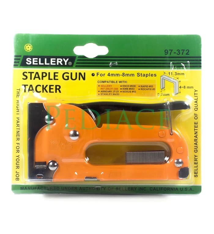 SELLERY 97-372 - Staple Gun Tackler For 4mm-8mm - Staples Tembak