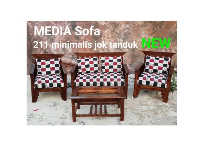 Jual New Sofa 211 Minimalis Kayu Ruang Tamu Kota Administrasi