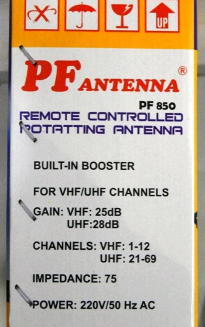 Antena Tv Digital - Analog - Outdoor - Luar Remote & Booster Pf 850