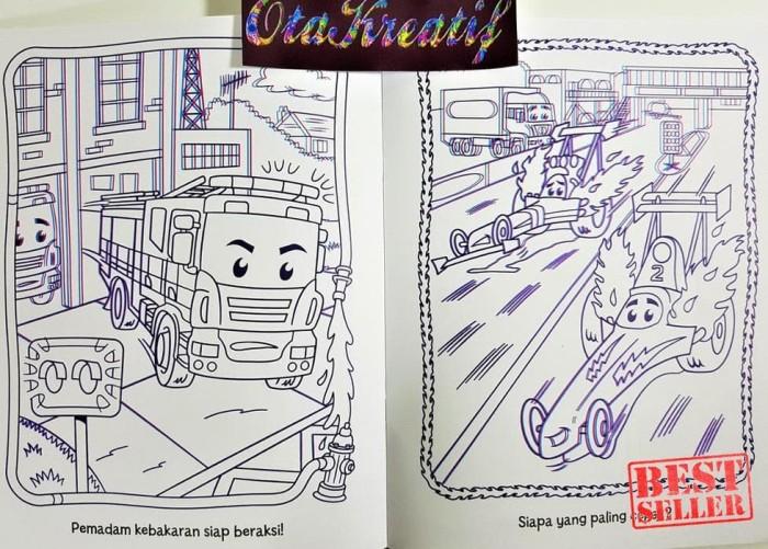 Jual Heboh Ayo Mewarnai 3d Mobil Buku Mewarnai Keren Dengan