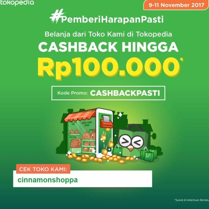 Jual Big Diskon Tokopedia Pemberi Harapan Pasti Cashback Pusat Kota Medan Vanil Shop Tokopedia
