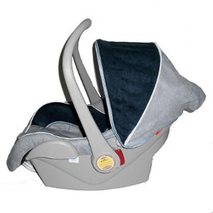 Pliko PK02 Blue & Grey - Car Seat Baby Carrier - Dudukan Kursi Mobil