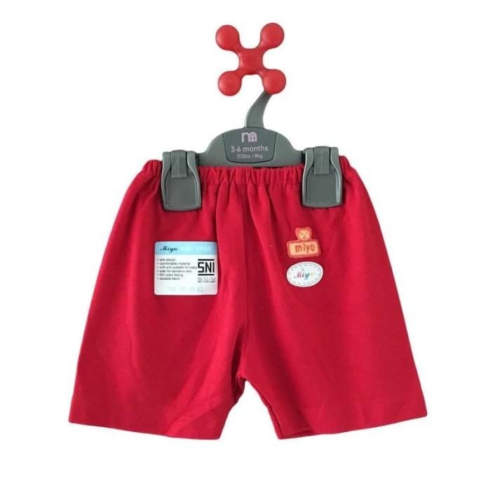 MIYO RED Pakaian Bayi Celana Pendek Merah S M L ( SIZE Diskon