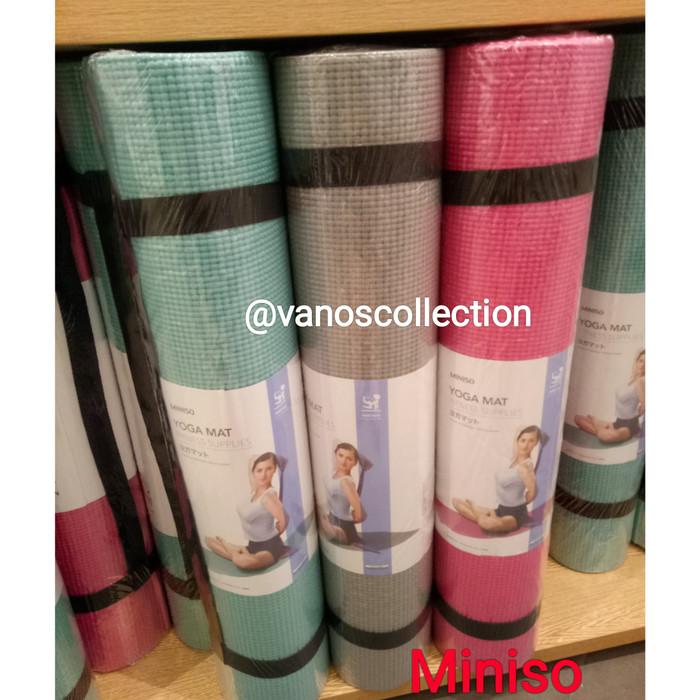 harga Miniso 6mm comfortable yoga matt matras yoga Tokopedia.com