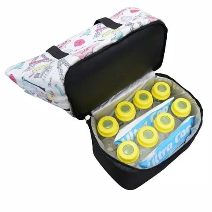 Nice Cooler Bag Stylish + Free Ice Gell Tas Penyimpanan Asip