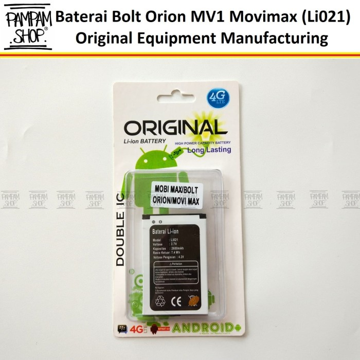 Baterai Modem Bolt Orion Movimax MV 1 Li021 Original OEM | Battery