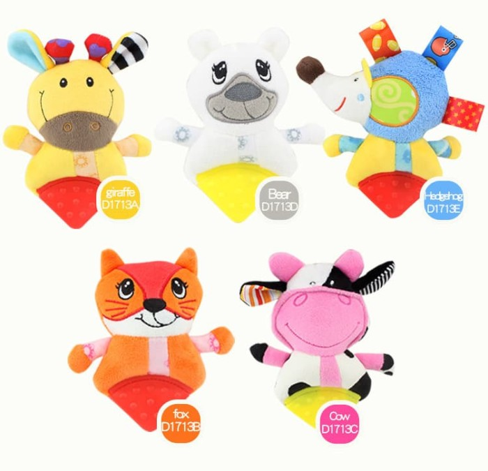 Foto Produk TEETHER RATTLE BONEKA ANIMAL dari Bintaro Baby Shop