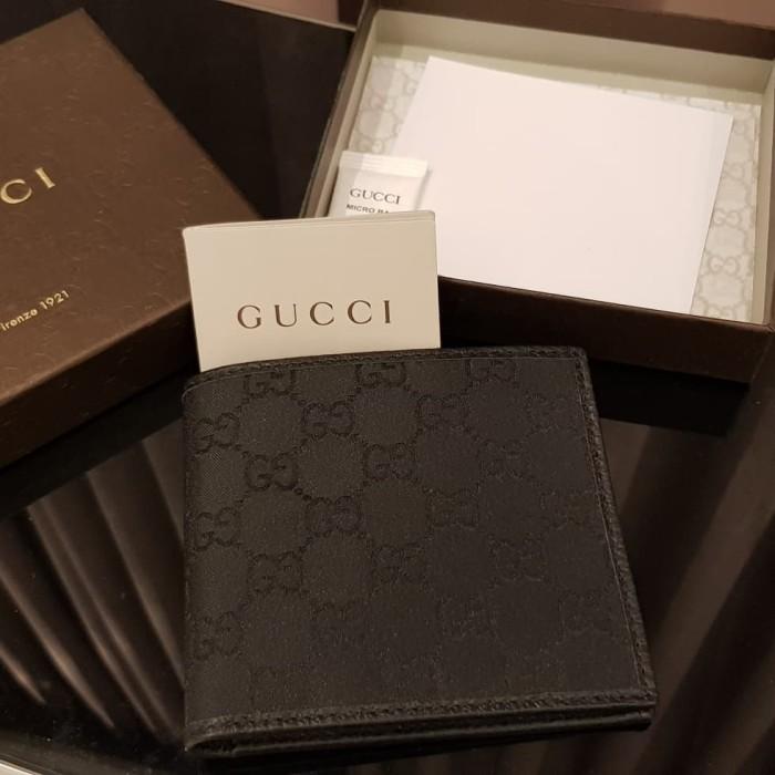 c32e53625c9b Jual Gucci Authentic Monogram Canvas Wallet Small Black Bifold - NBU ...