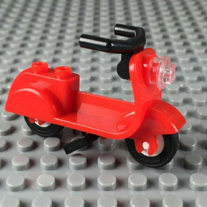 harga Lego scooter motor vespa minifigure aksesoris bootleg - merah Tokopedia.com