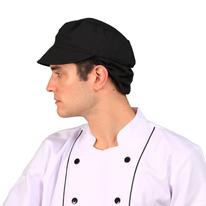 Jual Chef Headwear Sous Chef Cap Black Kitchen Hat Topi Koki Kota Medan Brewsuniq Tokopedia