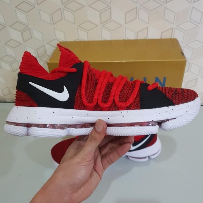 separation shoes ece6a c49d4 Sepatu Basket Nike Kevin Durant KD X 10 University Red XI 11 IX 9 ELIT -  BLACK GOLD, 44
