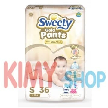 Popok celana bayi sweety pantz gold s 36 diapers
