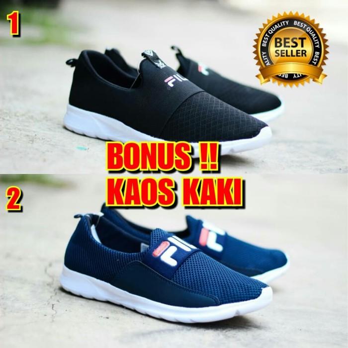 Jual SEPATU CASUAL PRIA SLIP ON FILA COWOK TERBARU - Flash Shoes ... b35d13c45e