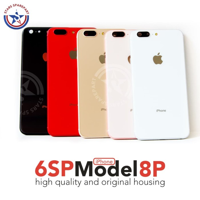 competitive price 6f7f7 fd86e Jual Housing / Casing / Backdoor iphone 6S Plus model iphone 8 Plus -  Abu-abu - Jakarta Pusat - Stars Sparepart | Tokopedia