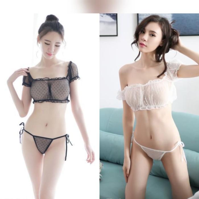 5d0d817af Jual ACB276 - Bikini Bra Set Transparan G-String Pakaian Dalam Seksi ...